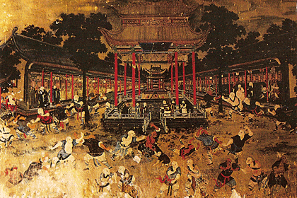 Shaolin Shi fresque du Temble Baixi