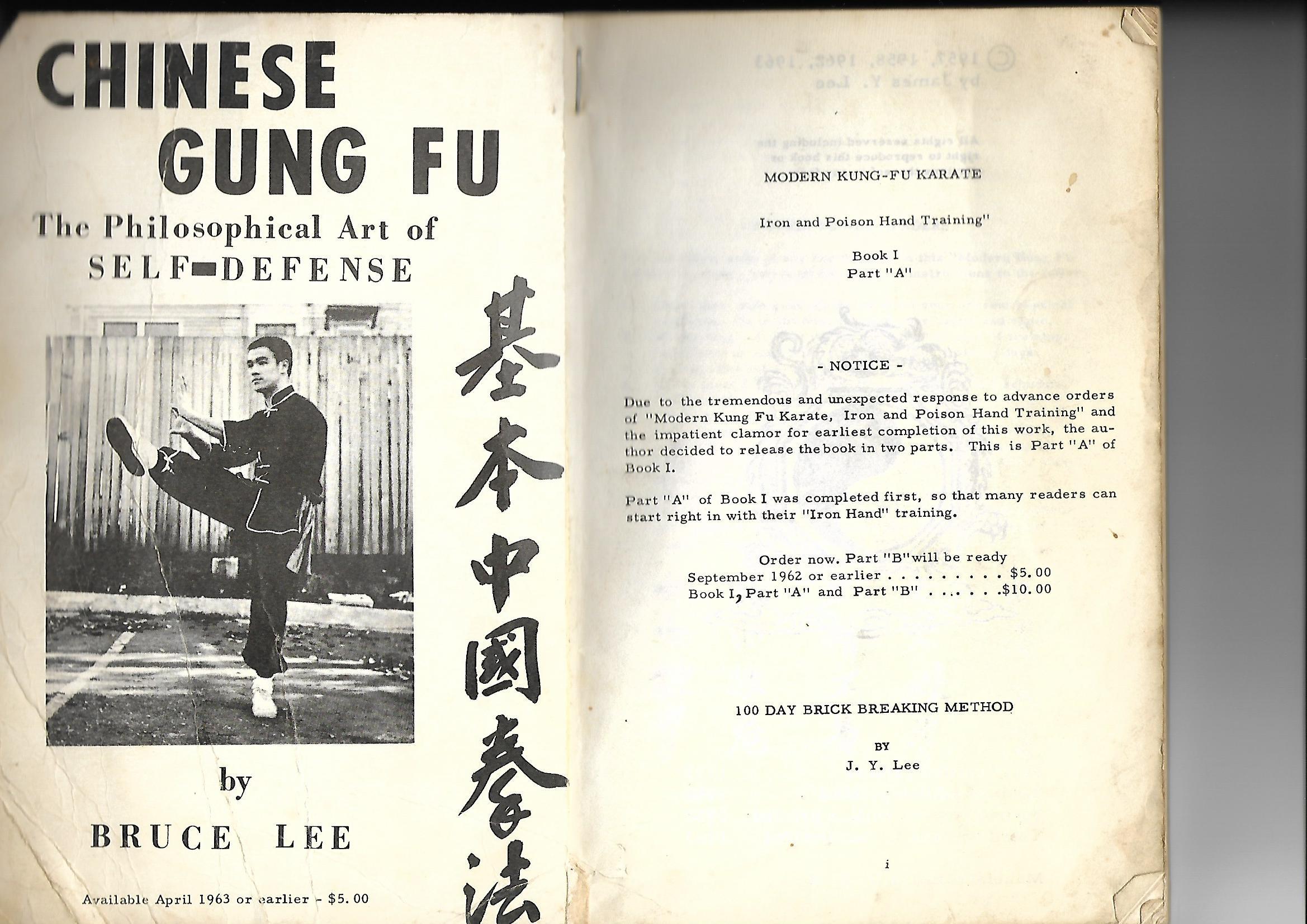 Livre bruce Lee 1963