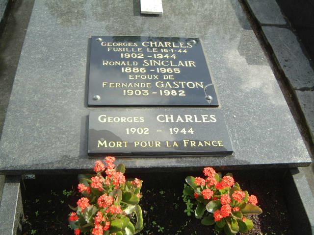Tombe de Georges Charles à Boulogne sur Mer.