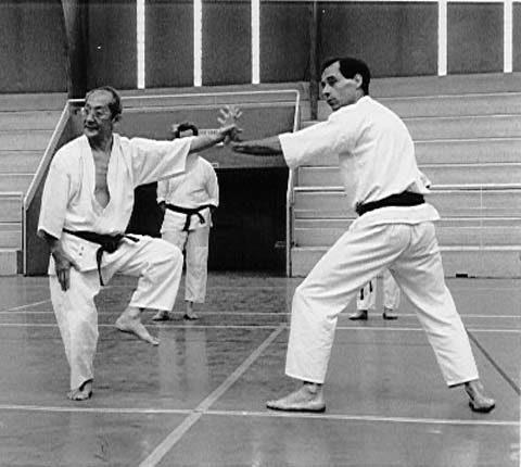 Georges Marie Mélin et Mitsusuke Harada du Karatedo Shotokai