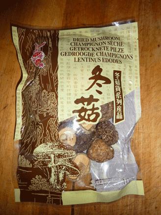 champignons parfumés chinois