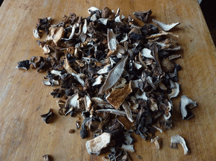 champignons chinois séchés