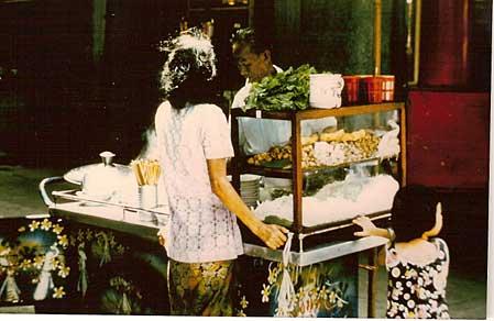 Cuisine ambulante Hong Kong 1975