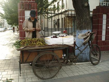 cuisine chinoise marchande de fruits