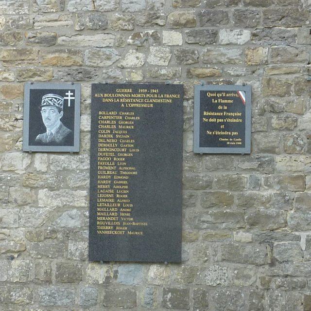 Plaque commémorative du beffroi de Boulogne sur mer